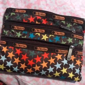 Colorful Star Print LeSportsac Pouch